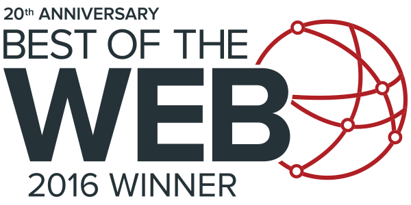 20th Anniversary Best of the Web 2016 Winner logo